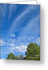 Sky Blue Summer Art Greeting Card