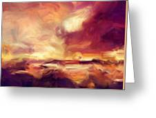 Sky Fire Abstract Realism Greeting Card