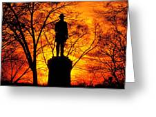 Sky Fire - Flames Of Battle 50th Pennsylvania Volunteer Infantry-a1 Sunset Antietam Greeting Card