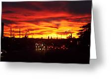 Sky Fire Greeting Card