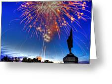 Sky Fire - Pennsylvania At Antietam - 132nd Pa Volunteer Infantry July 4th 2014 - 1b Greeting Card