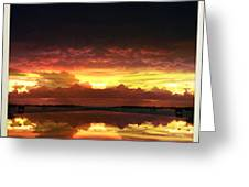 Sky Fire Siesta Key Greeting Card