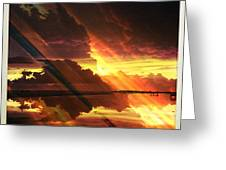 Sky Fire Siesta Key II Greeting Card by Alison Maddex