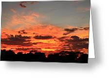 Sky Flames Greeting Card