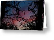 Sky In Blue And Magenta Greeting Card
