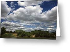 Sky Land Water Greeting Card
