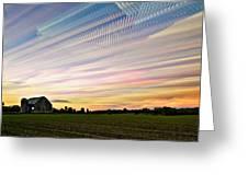 Sky Matrix Greeting Card by Matt Molloy