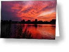 Sky On Fire 2 Greeting Card
