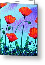 Sky Poppies Greeting Card