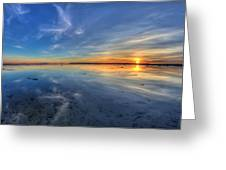 Sky Reflection In Boundary Bay Greeting Card