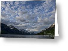 Sky Water Mountains Greeting Card