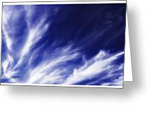 Sky Wisps Blue Greeting Card