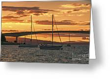 Skye Bridge Sunset Greeting Card
