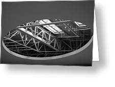Skylight Gurders In Black And White Greeting Card