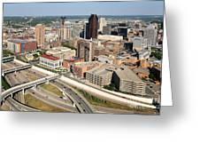 Skyline Aerial Of St. Paul Minnesota Greeting Card