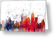 Skyline Citiscape Greeting Card