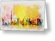 Skyline Collage  Greeting Card