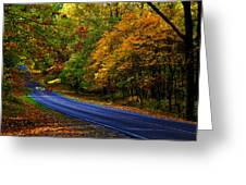 Skyline Drive 2 Greeting Card