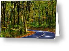 Skyline Drive Greeting Card
