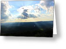 Skyline Drive Sunrays Greeting Card by Candice Trimble