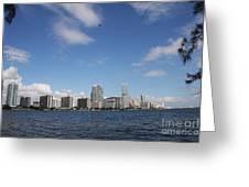 Skyline Miami Greeting Card