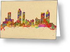skyline of Atlanta Georgia Greeting Card