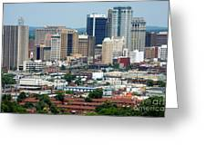 Skyline Of Birmingham Greeting Card