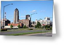 Skyline Of Des Moines Iowa Greeting Card
