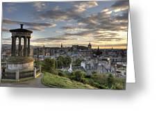 Skyline Of Edinburgh Scotland Greeting Card