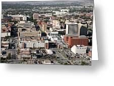 Skyline Of Lincoln Nebraska Greeting Card