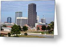 Skyline Of Little Rock Greeting Card