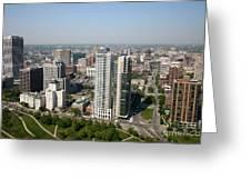Skyline Of Milwaukee Wisconsin Greeting Card