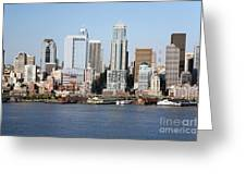Skyline Of Seattle Greeting Card