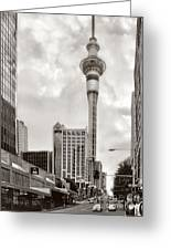 Sky Tower's Queen St Couple.nz Greeting Card