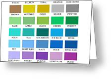 Skyline Series Color Chart Greeting Card