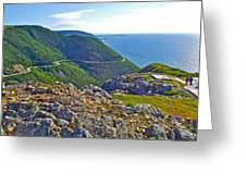 Skyline Trail And Road Through Cape Breton Highlands Np-ns Greeting Card