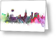 Skyline Warsaw Greeting Card