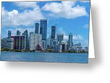 Skylines At The Waterfront, Miami Greeting Card