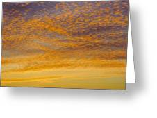 Skyscape - Rocky Gold Greeting Card