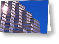 Skyscraper Photography - Downtown - By Sharon Cummings Greeting Card