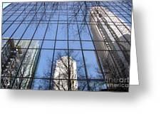 Skyscraper Reflections - Charlotte Nc Greeting Card by Shelia Kempf