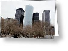 Skyscrapers Of The Battery Greeting Card
