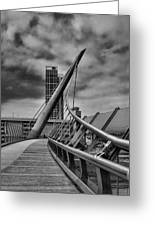 Skywalk Greeting Card by Hugh Smith