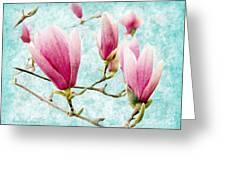 Skyward Magnolia Painterly 4 Greeting Card