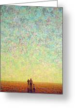 Skywatching In A Painting Greeting Card