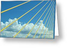 Skyway To The Clouds Greeting Card
