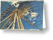 Skywheel At Niagara View Greeting Card