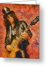 Slash Shredding On Guitar Greeting Card
