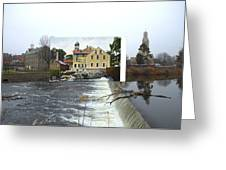 Slater Mill In Pawtucket Rhode Island Greeting Card