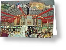 Slater Park Carousel Rounding Board Greeting Card